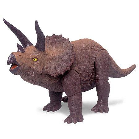 Dinossauro Triceratops Jurassic Marrom