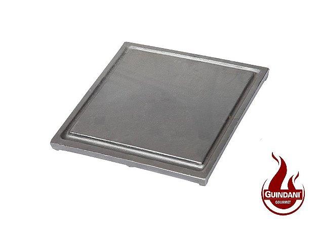 Chapa em Ferro Fundido 30 x 30 cm para Bifeteira e Fogareiro