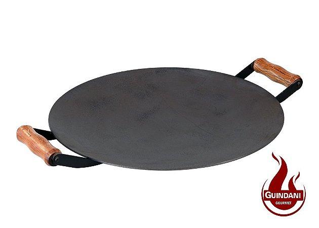 Assadeira Redonda (Disco de Arado) de 46 cm em Aço Carbono Natural com Alça