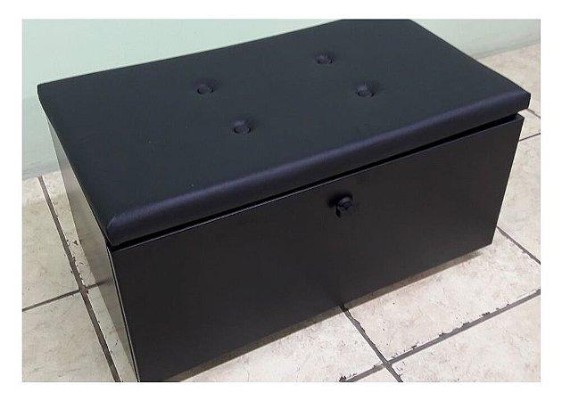Caixa para Lenha N 2 (Branca ou Preta) em Aço Carbono Pintado com Assento Estofado