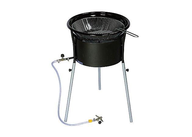 Fritadeira Tacho 10 litros a Gás Alta Pressão 6 Caolins Esmaltado com Pés Desmontáveis - GTP/FRIT