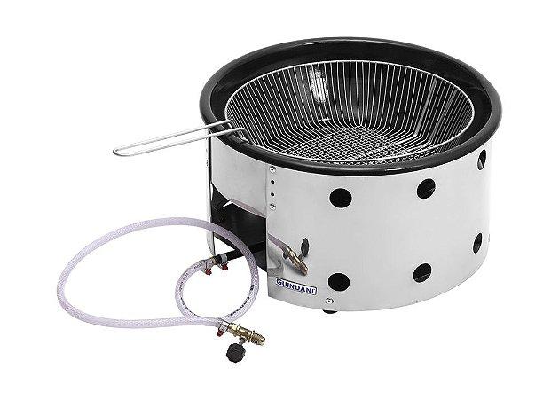 Fritadeira Tacho 10 litros a Gás Alta Pressão 6 Caolins Inox 430 - GT/FRIT
