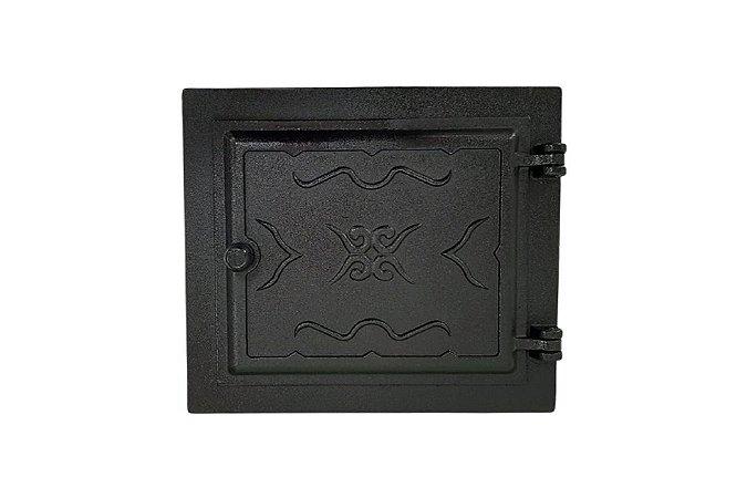Porta para Forno Fornalha de Fogão a Lenha em Ferro Fundido - 42 x 36 cm