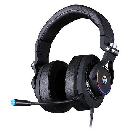 Headset Gamer HP H500 Rgb Conexão P2 e Usb Driver de 50mm Preto 9AJ65AA - HP