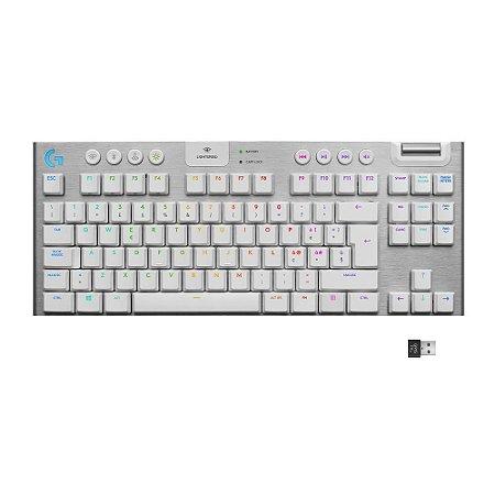 Teclado Mecânico Gamer G915 TKL Usb Ultrafino Switch de Perfil Baixo Branco - Logitech