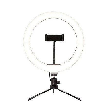 Suporte Tipo Ring Light Livestream com Tripé Ajustavel Usb AC370 - Multilaser