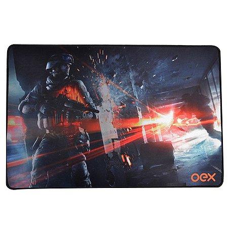 Mousepad Gamer Oex Battle 50x33cm MP301 Preto -  Oex