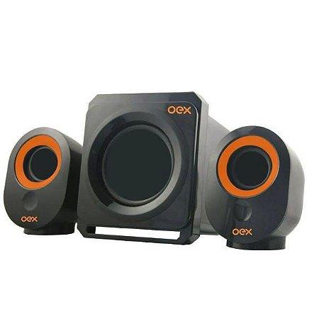 Caixa de Som Speaker Booster Usb Bluetooth SK500 Preto - Oex