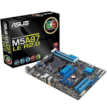 Placa-Mãe Asus AMD AM3+ ATX M5A97 LE R2.0 4xDDR3 USB 3.0 - Asus