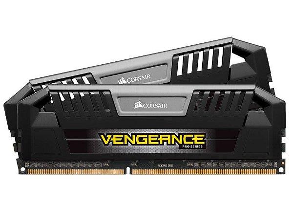 Memória Ram Corsair Vengeance 8GB KIT (2X4GB) 2400Mhz DDR3 CL10 Black - Corsair