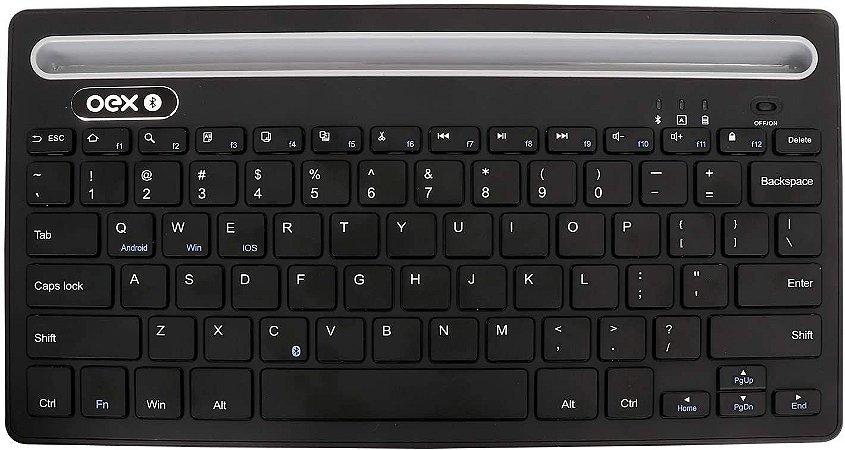 Teclado Oex Class Sem Fio Bluetooth para Tablet Celular Pc Note TC502 - Oex