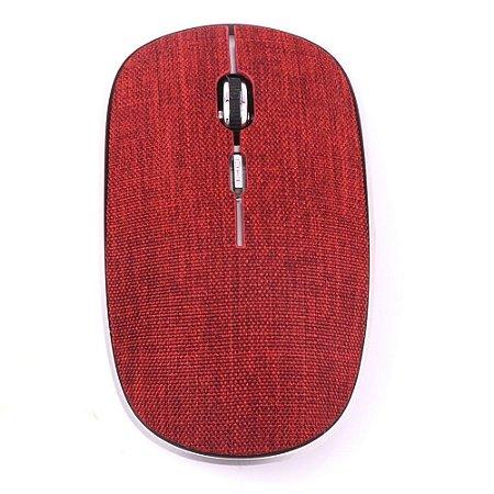 Mouse Oex Twill Sem Fio Bluetooth Em Tecido MS600 Vermelho - Oex