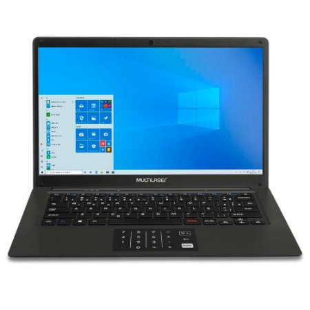 Notebook Legacy Book PC310 Windows 10 Home Celeron Quadcore 14,1Pol Preto - Multilaser