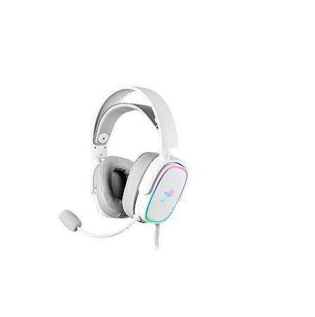 Headset Gamer Zyon Rgb Usb Microfone Removível HS 415 Branco - Oex