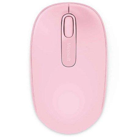 Mouse Óptico Microsoft 1850 Sem Fio U7Z-00028 Rosa - Microsoft