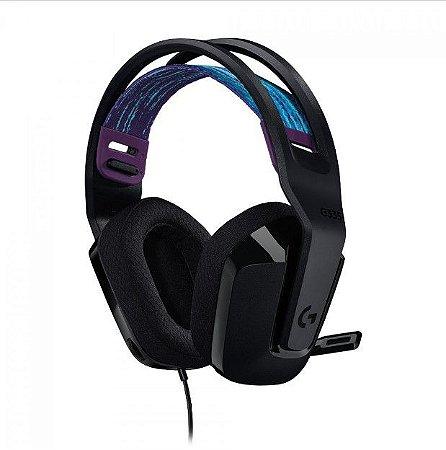 Headset Gamer G335 40mm 981-000977 Preto - Logitech
