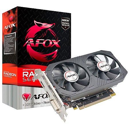 Placa de Vídeo Afox Radeon RX 550 4Gb Ddr5 128 Bits AFRX550-4096D5H4-V5 - Afox