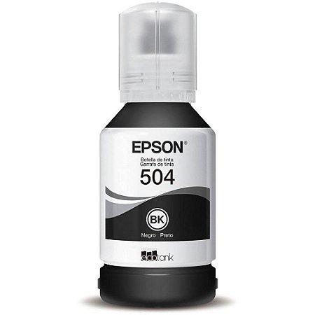 Refil de Tinta T504 127ml Para Impressoras T504120-AL Preto - Epson