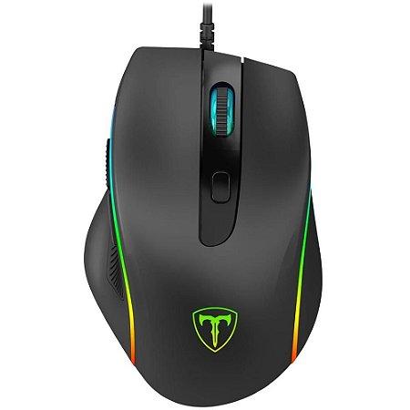 Mouse Gamer T-Dagger Recruit 2 Rgb 6 Botões 3200Dpi T-TGM108 Preto - T-Dagger