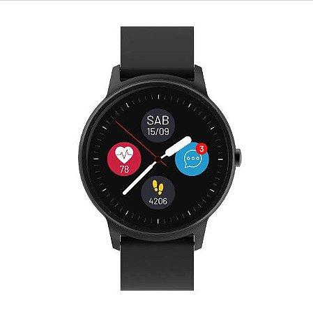 Relógio Smartwach Viena Android e iOS À Prova D'Àgua IP68 ES352 Preto - Multilaser
