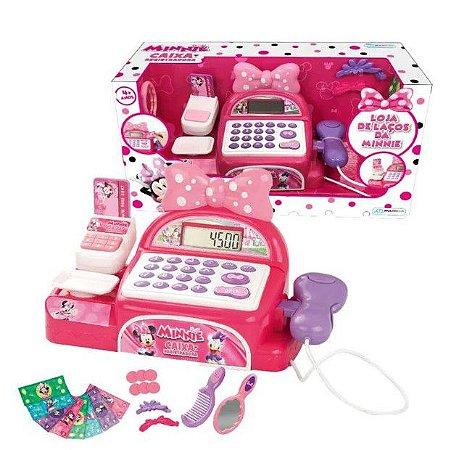 Caixa Registradora Com Acessórios Minnie BR1183 Rosa - Multikids