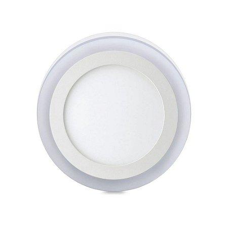 Luminária Plafon 12W+6W Led 3 Estágios Redondo de Sobrepor 48D124WSRBM0 - Elgin