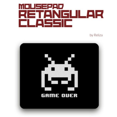 Mousepad Retangular Classic  Game Over - Reliza