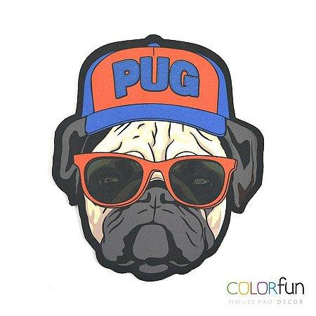 Mousepad / Imã Decorativo ColorFun Pug - Reliza