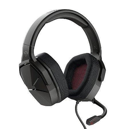 Headset Gamer Ward 50mm Microfone Flexível Preto GXT 4371 - 23799 - Trust