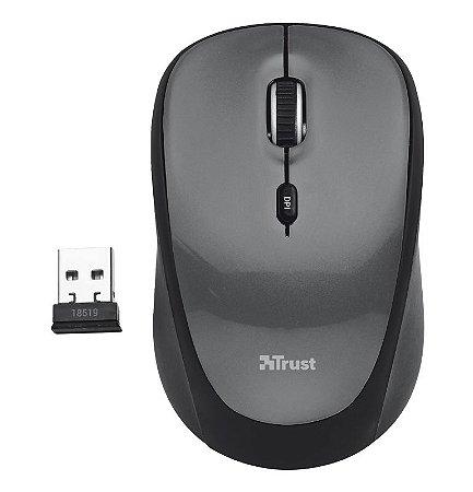 Mouse Wireless Yvi 1600Dpi Micro Pilhas Inclusas Usb Preto 18519 - Trust