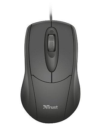 Mouse Ótico Ziva 1200Dpi Ambidestro 3 Botões Usb 21947 - Trust