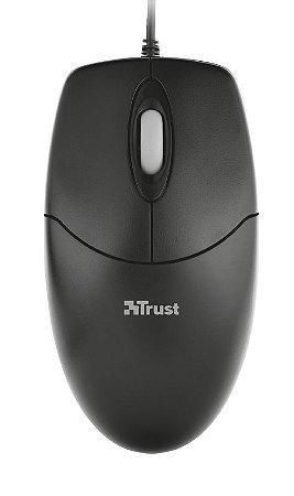 Mouse Basi Ótico 1000dpi Ambidestro 3 Botões USB - 16591 - Trust