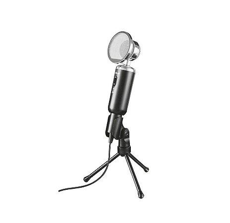 Microfone de Mesa Madell com Tripé e Proteção de Vento - 21672 - Trust