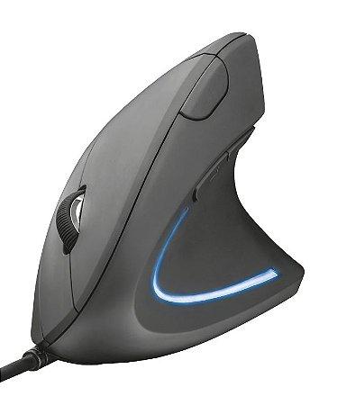 Mouse Verto 1600Dpi 6 botões Led Ergonômico - 22885 - Trust