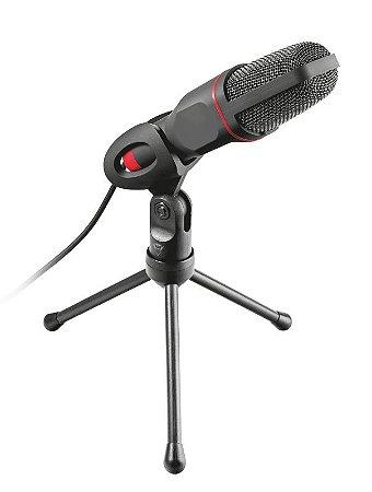 Microfone Mico GXT 212 USB com Tripé Ajustável - Vermelho - 23791 - Trust