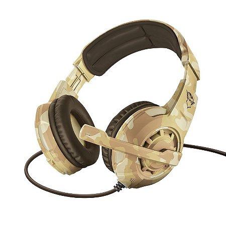 Headset Gamer Radius 40mm Desert Camo GXT 310D - 22208 - Trust
