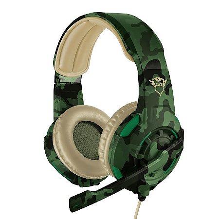 Headset Gamer Radius 40mm Jungle Camo GXT 310C - 22207 - Trust