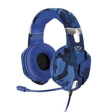 Headset Gamer Carus 50mm Camuflado Azul GXT 322B - 23249 - Trust