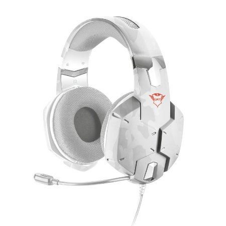 Headset Gamer Carus 50mm Snow Camo GXT 322W - 20864 - Trust