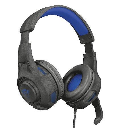 Headset Gamer Ravu 40mm Preto e azul GXT307B - 23250 - Trust