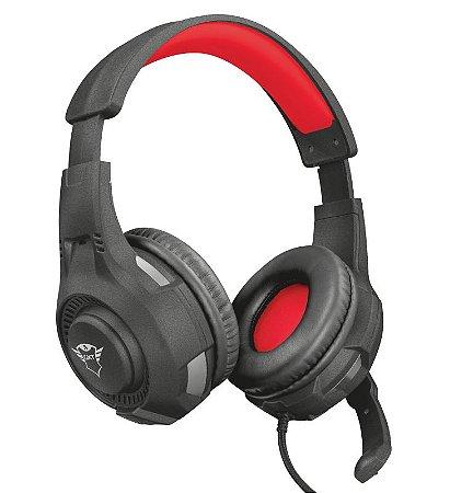 Headset Gamer Ravu 40mm Preto e vermelho GXT 307 - 22450 - Trust