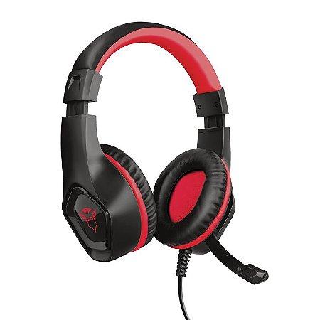Headset Gamer Rana 40mm Vermelho GXT 404R - 23439 - Trust