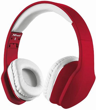 Headphone com Microfone Urban Mobi Compatível com iOS Android - Vermelho - 20114 - Trust