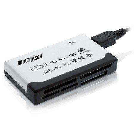 Leitor de cartão USB 2.0 AC076 - Multilaser
