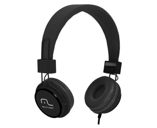 Fone De Ouvido Multilaser Headphone Fun Preto P2 PH115 Preto - Multilaser