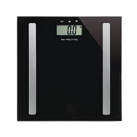 Balança Digital Serene Digi-Health Pro HC030 - Preto - Multilaser