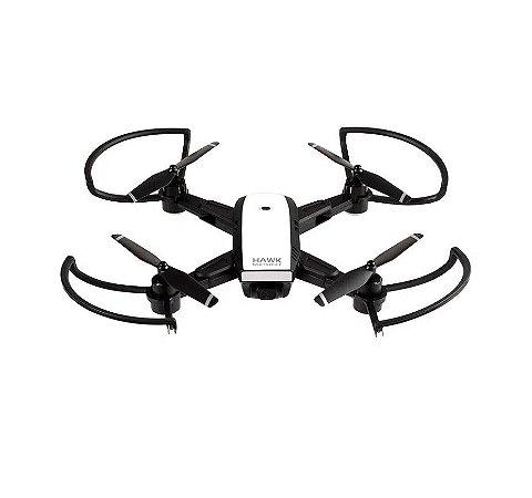 Drone Hawk GPS ES257 FPV Câmera HD 1280P Alcance de 150m Preto - Multilaser