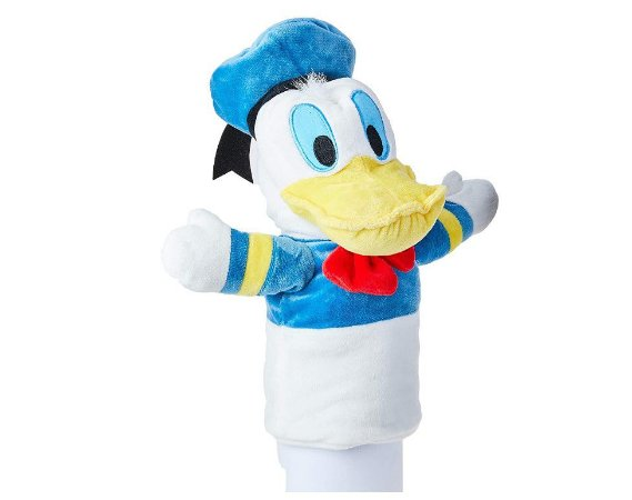 Fantoche de Pelúcia Pato Donald 28cm Azul e Branco Multikids - Multilaser