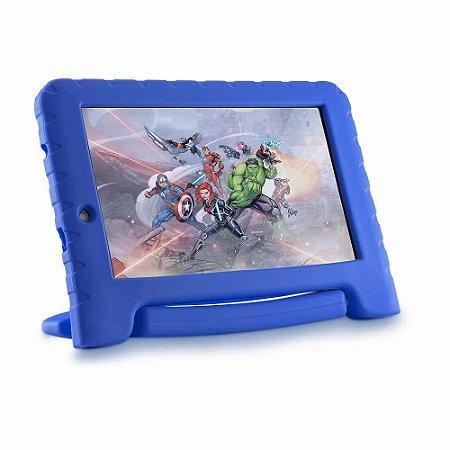 Tablet Multilaser Vingadores Plus 16gb Tela 7 Pol. Quad Core Dual Câmera Azul NB307 - Multilaser
