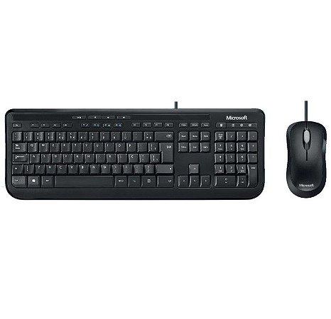 Teclado E Mouse Com Fio Desktop 600 Usb Preto Microsoft  APB00005 - Microsoft